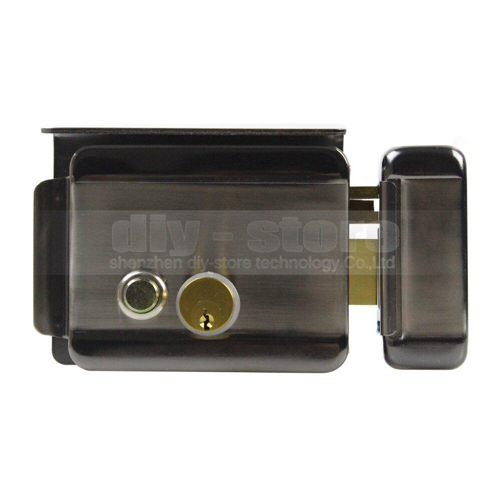 DIYSECUR Waterproof Electric Lock Security System Door Rim Lock for Video Door Phone Doorbell Intercom Access Control System
