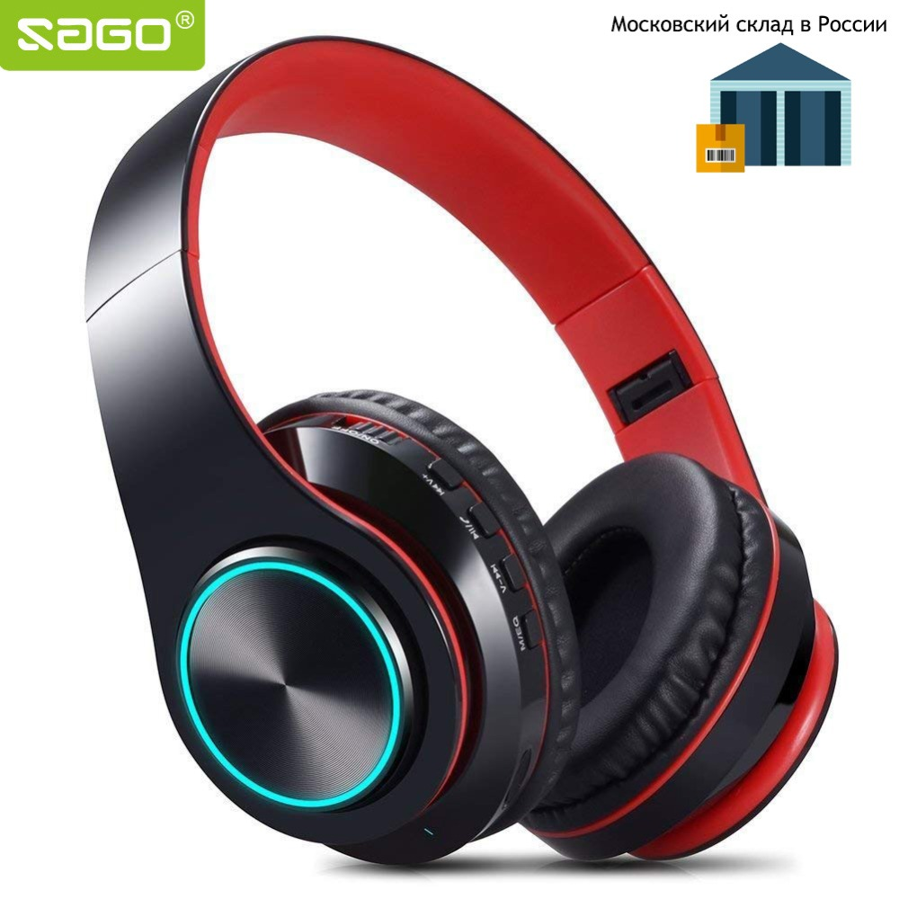 Sago Portable Wireless Headphones Foldable Bluetooth Headset Earphone Headphone Earbuds Earphones With Mic Support SD FM bluetooth headphones wireless earphones stereo bass headset earbuds foldable sport earphone with microphone mp3 player