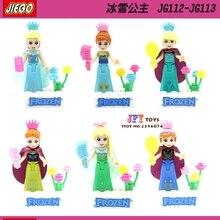 60pcs starwars super heroes Princess Girl Friends Anna/Elsa Queen building blocks bricks hobby interesting toys for speelgoed