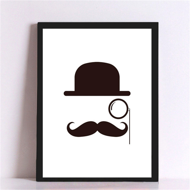 Exceptionnel Canvas Painting Mustache Cap Eyeglass Pictures On The Wall Decorative  Pictures Canvas Art Print Poster Home