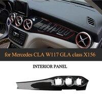 Для Mercedes Benz X156 CLA W117 GLA X156 Реальные углеродного волокна автомобилей центральной консоли панель кондиционирования воздуха украшения 2013 18