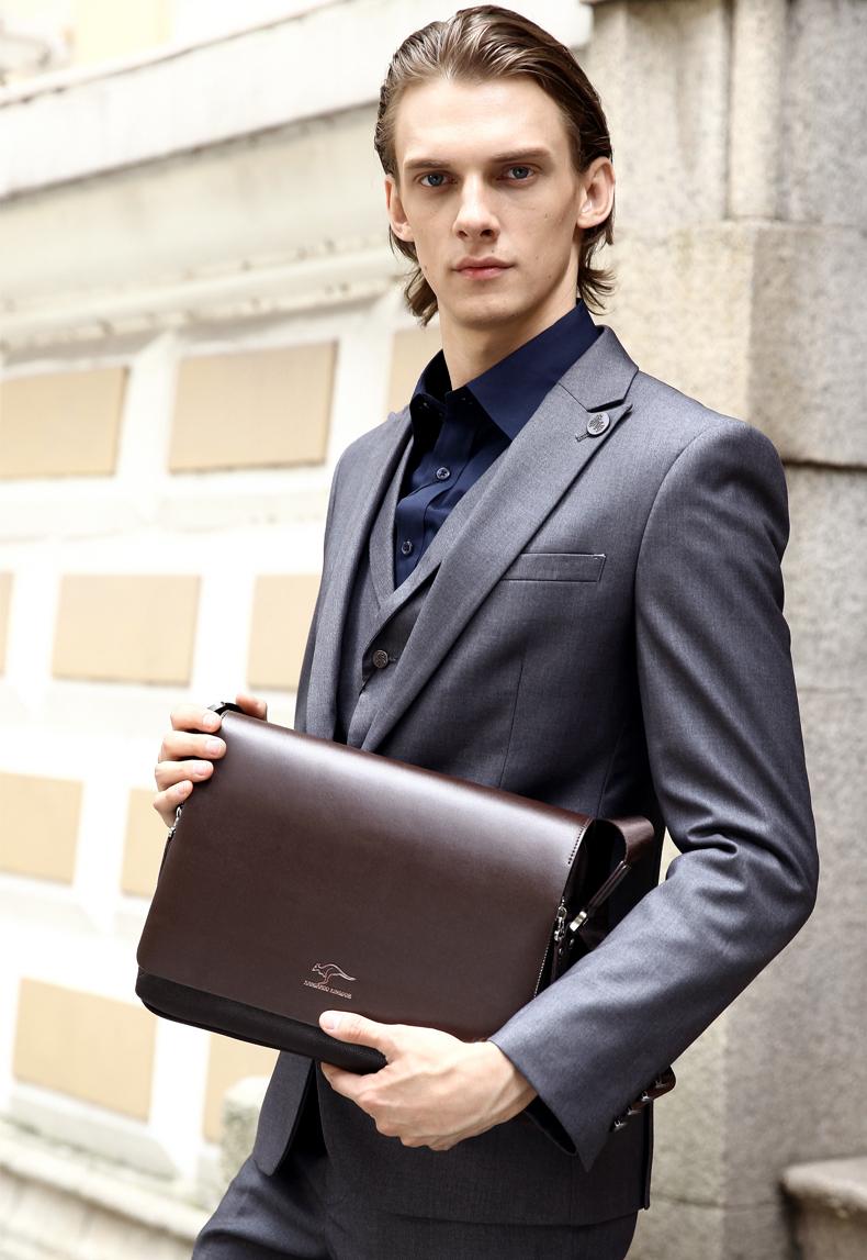 New Arrived luxury Brand men's messenger bag Vintage leather shoulder bag Handsome crossbody bag handbags Free Shipping 22