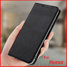 Hand Made For Huawei Honor 20 pro 8X 9 10 Lite Leather Case PU Flip Cover Card Slot