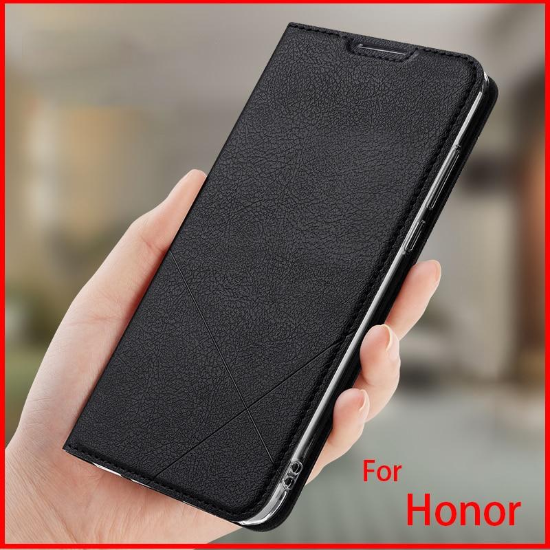 385.18руб. 29% СКИДКА|Ручная работа для Huawei Honor 20 pro 8X 9 10 20 Lite кожаный чехол PU флип чехол слот для карт|  - AliExpress