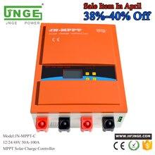 JNGE 80A Solar Controller MPPT Solar Charge Controller 12V 24V 48V MPPT Solar Panel Battery Regulator with Max. 150V PV input