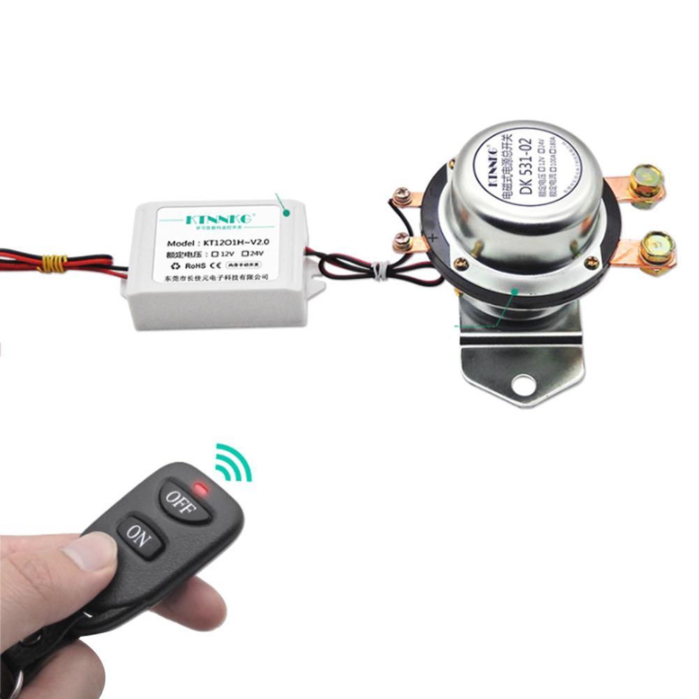 Interrupteur de fuite de batterie de voiture 12 V 24 interrupteur de prévention de fuite électromagnétique Modification intelligente de commutateur d'alimentation de télécommande