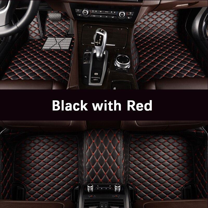 Custom car floor mats for Volkswagen All Models vw passat b5 6 polo golf tiguan jetta touran touareg car styling auto floor mat strap