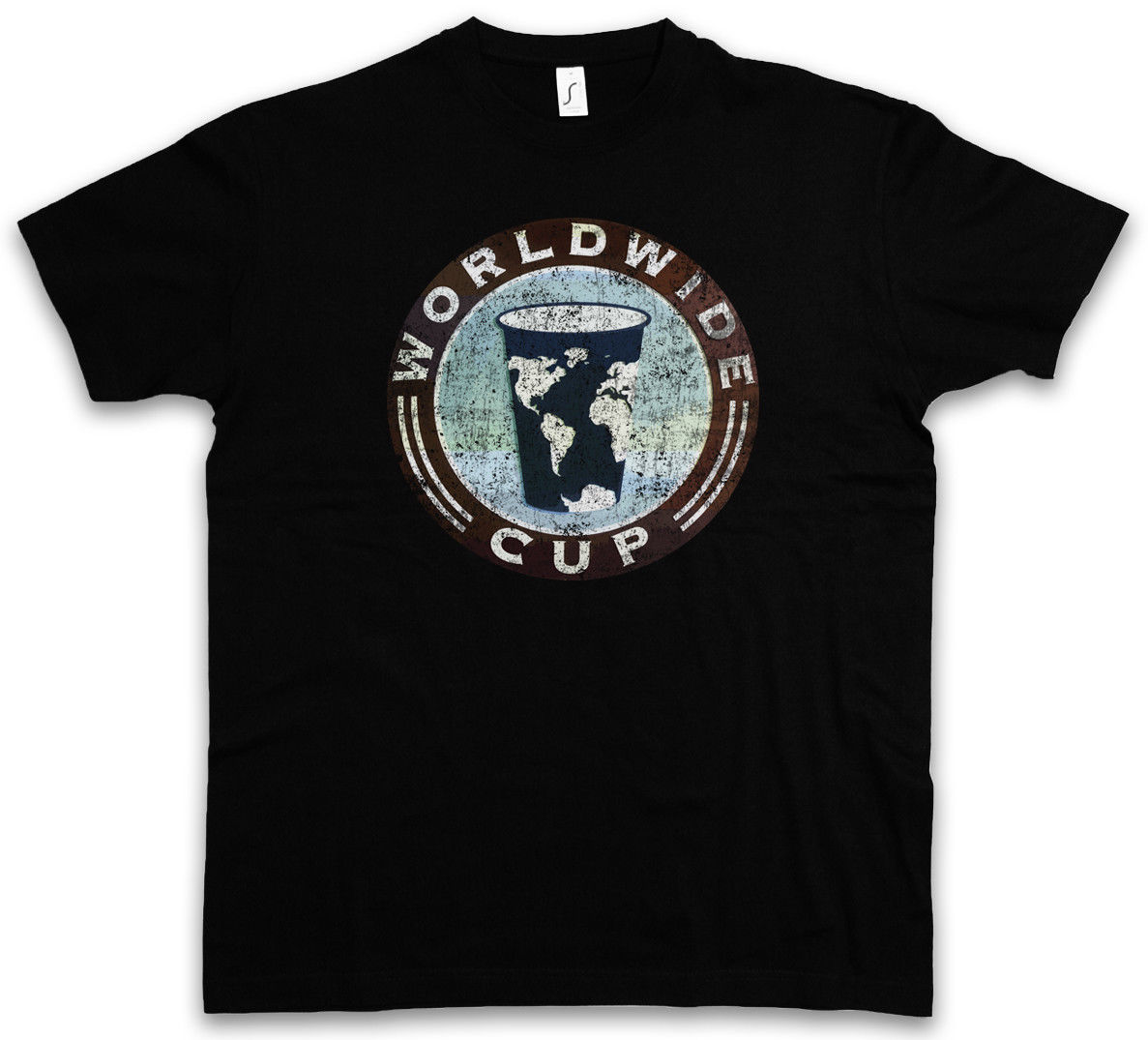 Short sleeve t shirt WORLDWIDE CUP T-SHIRT - Shameless Frank Gallagher Coffee Shop Cafe Sizes S - 5XL