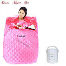 2015 As seen on TV free shipping portable sauna steam mini sauna room sauna steam box steam room for sale