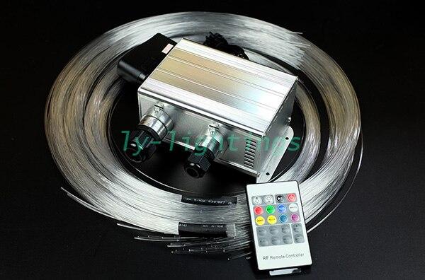Casa fai da te decorazione fibra ottica luce del cambiamento di colore di scintillio + shooting stars fibra ottica kit luce di soffitto a distanza senza fili 3 M