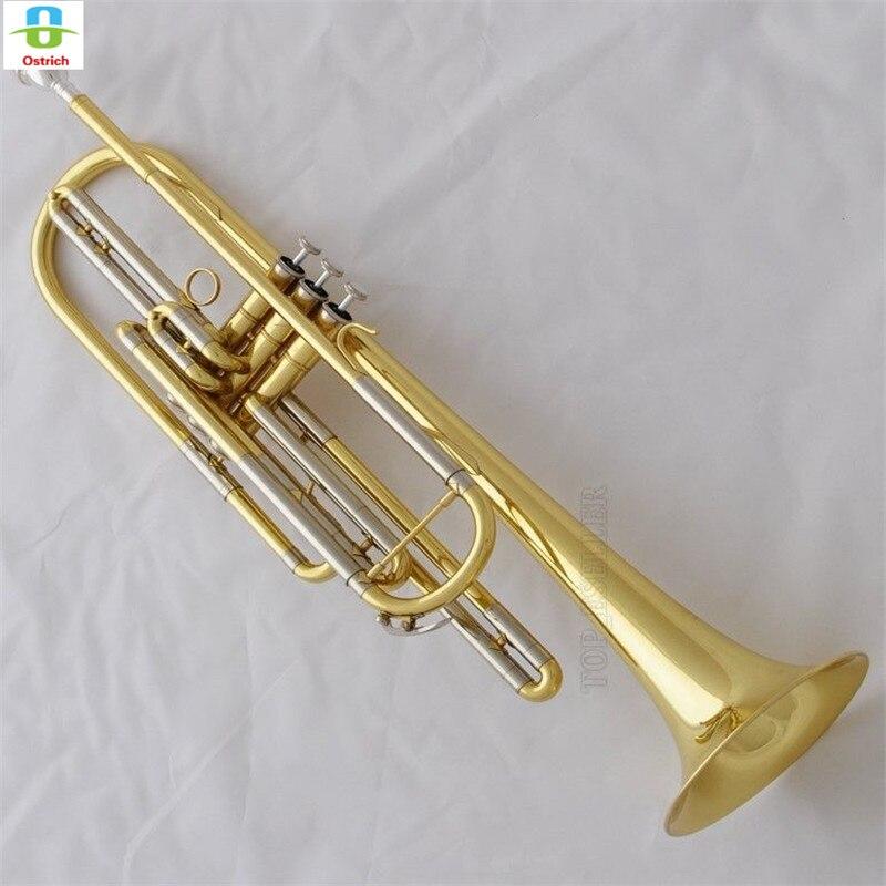 Professionnel JINBAO Or Basse Trompette corne 3 Piston Bb Clé Avec Cas