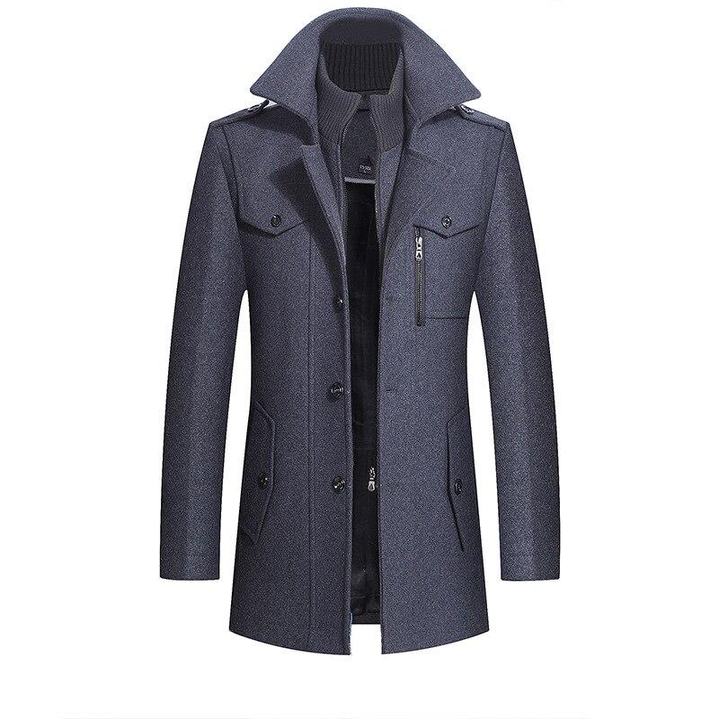 Thicken Warm Double Collar Woollen Good Winter Coat
