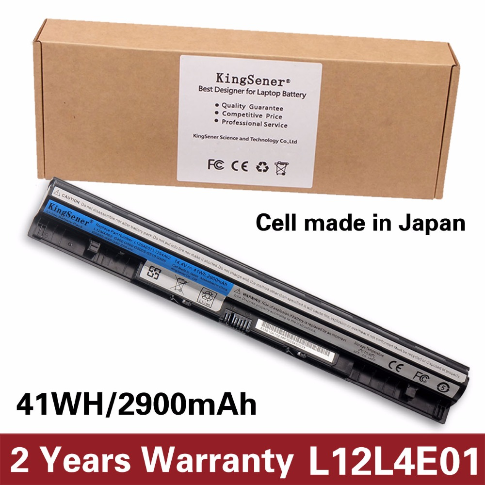KingSener L12S4E01 Laptop Battery for Lenovo Z40 Z50 G40-45 G50-30 G50-70 G50-75 G50-80 G400S G500S L12M4E01 L12M4A02 L12S4A02 jack for lenovo ideapad g50 g50 70 g50 30 g50 40 g50 45 g40 70 g50 80 dc31100ld00 lg00 laptop dc power socket connector cable