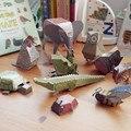 12 unids/pack de los animales de cartón 3D puzzles / DIY papel cut libro / menagerie hechos a mano artesanales / niños juguetes educativos para niños navidad
