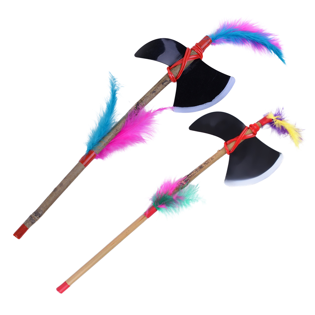 1 PCS Wood Axe Prop Kids Toy for Collection Cosplay Halloween Costumes