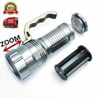 נטענת מנורת XM-L 3800LM T6 פנס LED לפיד Zoomable זום LED לאמפה ציד 3x18650 סוללה שימוש הבזק אור