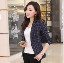 THYY 2018 Full Plaid Spring Autumn Coat Blazer Women Suit Ladies Refresh Blazers Comfortable Women's Blazers Free Shipping A806