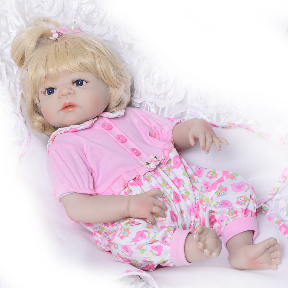 23'' Truly Reborn Dolls Girl Full Silicone Vinyl Newborn Doll Handmade Ethnic Babies Toys Lifelike Reborn Menina Kids Xmas Gifts handmade ancient chinese dolls 1 6 bjd jointed doll empress zhao feiyan dolls girl toys birthday gifts