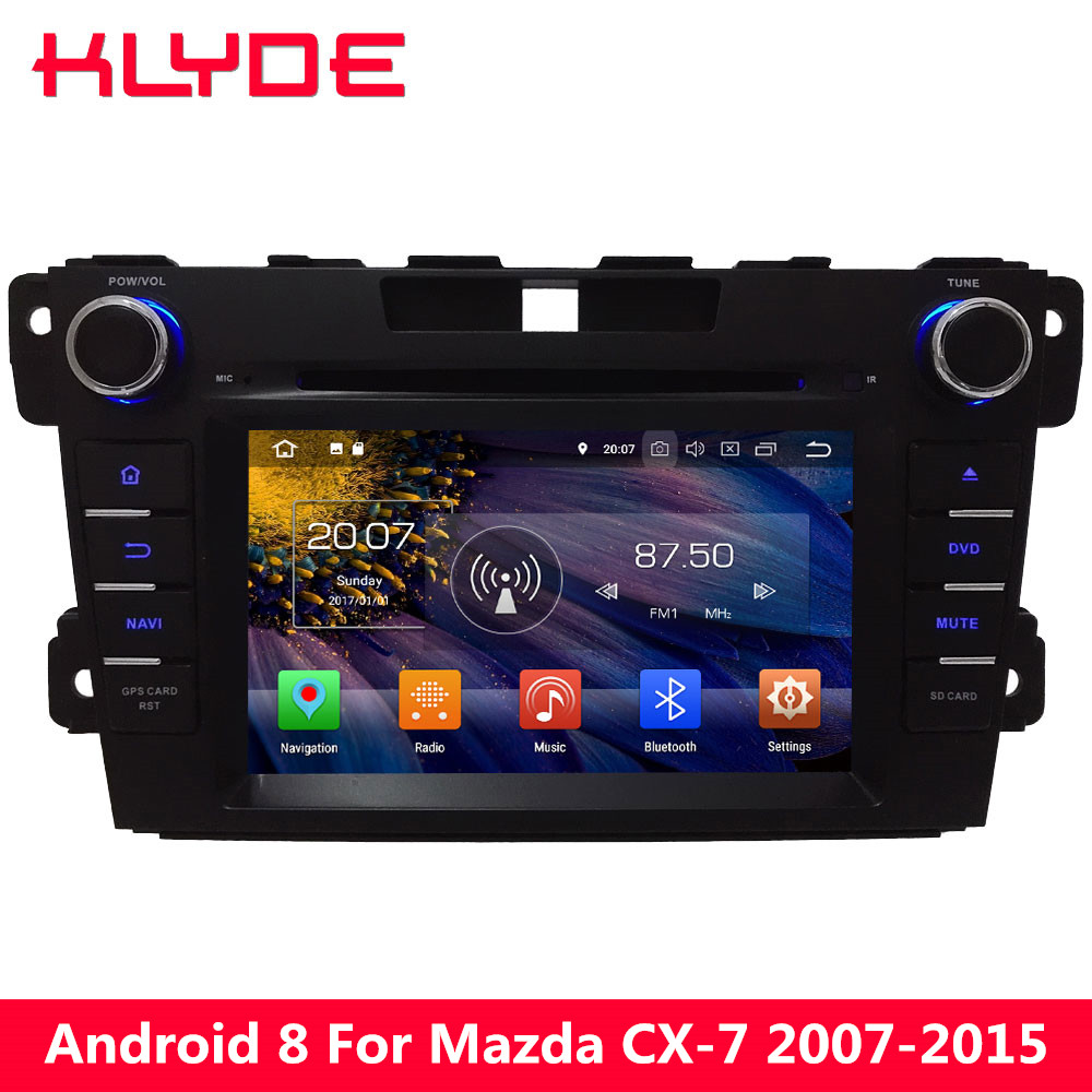 KLYDE 4GB RAM 32GB ROM 7 Android 8.0 7.1 6.0 Octa Core PX5 4G WIFI DAB Car DVD Multimedia Player Radio For Mazda CX-7 2007-2015
