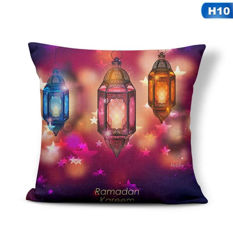 Decorations For Home Islamic Eid Mubarak Decor Sofa Throw Pillow Cases Muslim Mosque Decorative Cotton Cushion Cover
