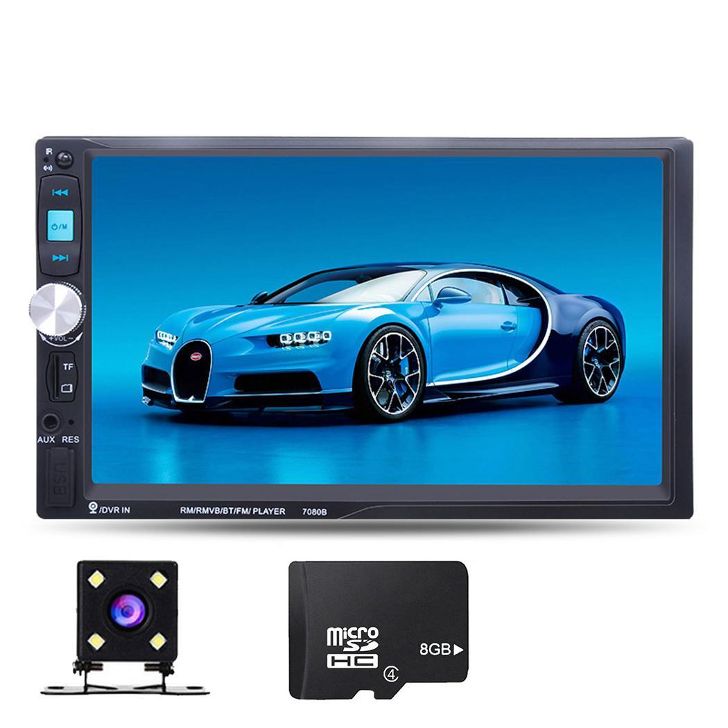 7inch 2 Din Car <font><b>Radio</b></font> Car Stereo MP5 Player Touch Screen TF USB GPS FM Bluetooth Car Video Multimedia Player with Camera <font><b>7021G</b></font> image