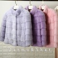 Woman's Fur Coat Mink Coat Short Section Full Pelt Double-Faced Fur Coat  GSJ069