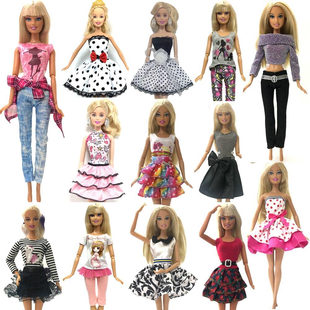 NK 2019 nouvelle robe de poupée belle à la main fête vêtements robe de mode pour Barbie Noble poupée meilleur enfant copines s'gif JJ