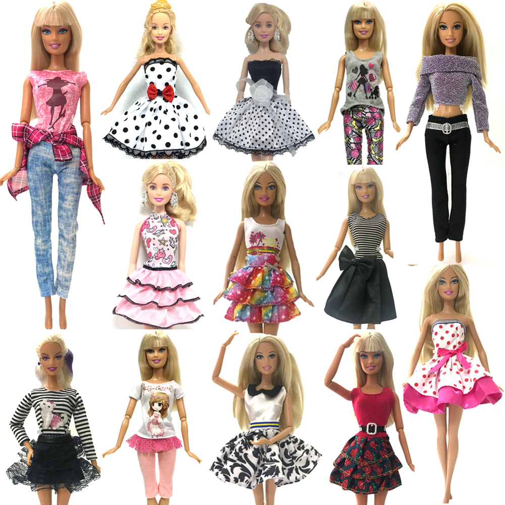 NK 2020 Newest Doll Dress Beautiful Handmade Party ClothesTop Fashion Dress For Barbie Noble Doll Best Child Girls'Gif JJ