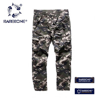 Rarebone 100 Cotton Soft Shell Outdoors Tactical Military Camouflage Pants Men Army Waterproof Thermal Camo Hunt
