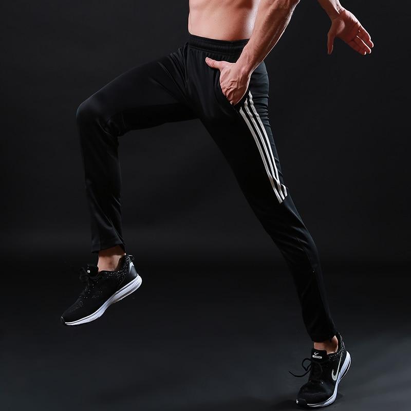 Running Pants Men Pro Sports Leggings Running Gym Fitness Yoga Pants Zipper Skiny Leg Soccer Football Training Pants 330 boxed pleated button detail peg leg pants