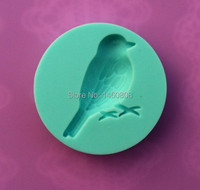 Wholesale 10Pcs/lot 100% Food-grade 3D Silicone Birds Shapes Fondant Candy Chocolate Ice Cake Moulds Tools