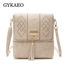 GYKAEO женский выдалбливают Обложка кисточкой сумки на плечо для женщин известных брендов небольшой из искусственной кожи вечерние клатч