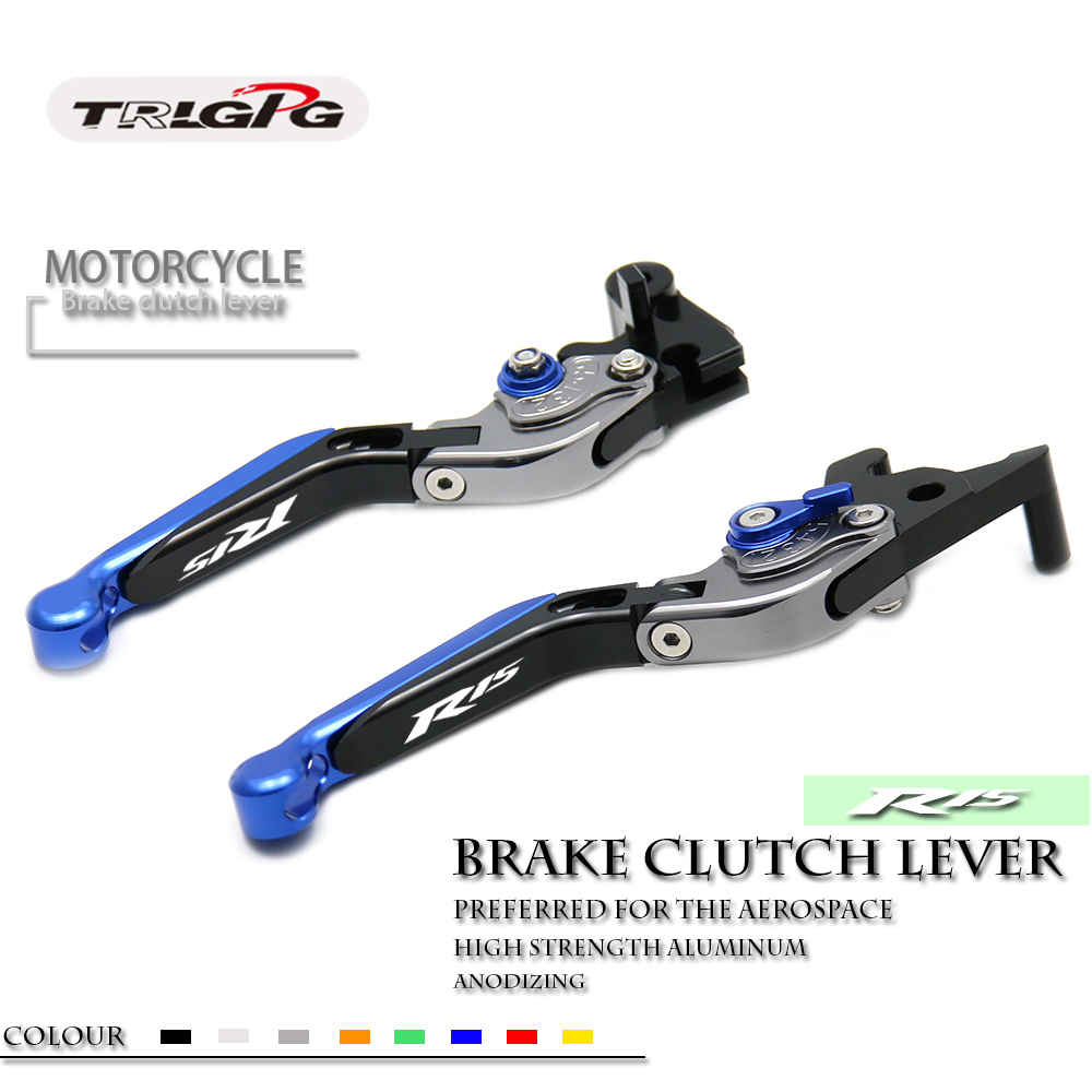 CNC Motorycle Accessories Foldable Lever Motocross Brake Clutch Levers Case for Yamaha YZF R15 2013 2015 2014