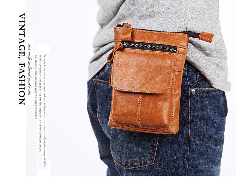 FSSOBOTLUN, Per Blackview X/BV7000 Pro/A20/BV5800/S6 Caso Cintura In Vita degli uomini Portafoglio borsa del Cuoio Genuino Della Copertura Con Tracolla - 3