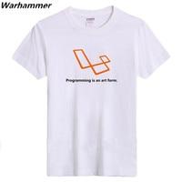 Warhammer Geek Styl Mężczyźni Tshirt Bawełna Uciekają Druku Programowania Jest Forma sztuki Lato ONeck Geek UE 3XL Krótki Rękaw Koszulkę