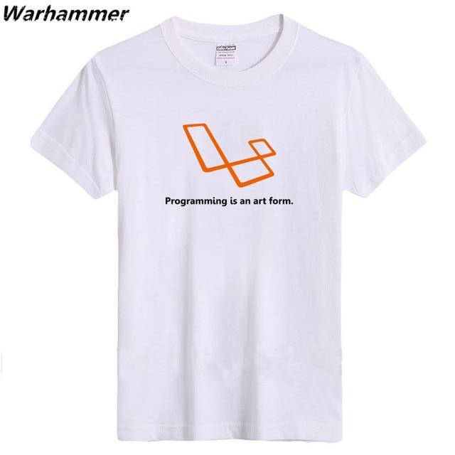 ede277a85a Warhammer Geek Style Men Tshirt Cotton Flocking Print Programming Is An Art  Form Summer ONeck Geek EU 3XL Short Sleeve Tee Shirt