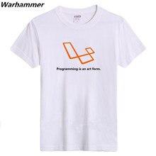 Warhammer Geek Style Men Tshirt Cotton Flocking Print Programming Is An Art Form Summer ONeck Geek EU 3XL Short Sleeve Tee Shirt