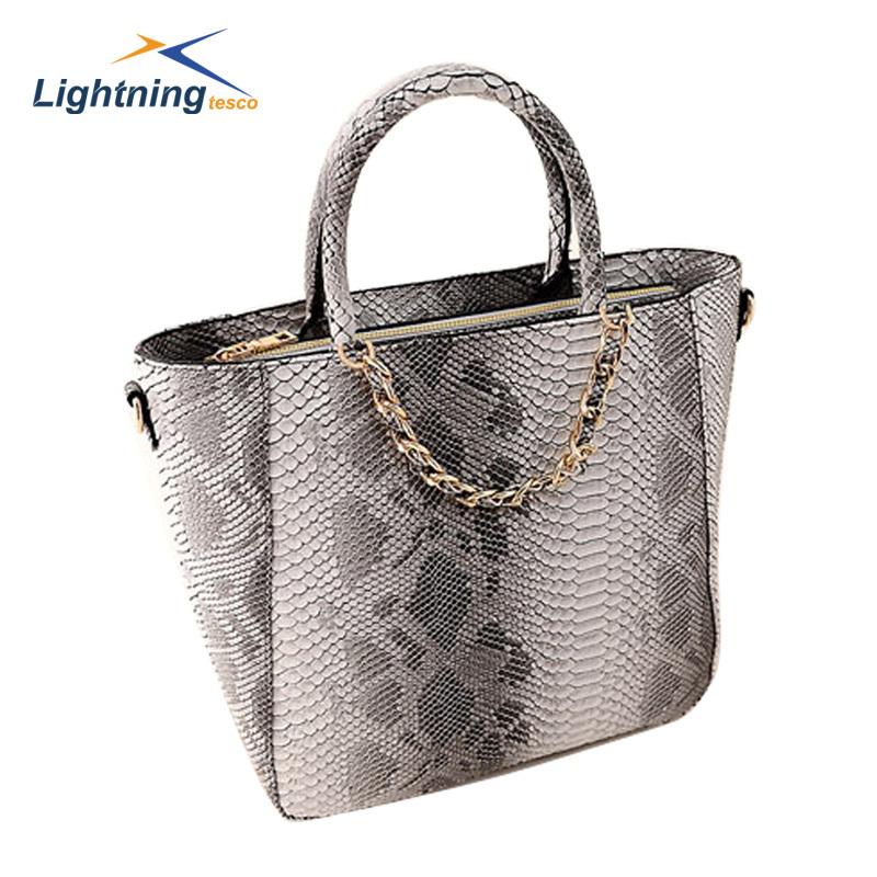 2015 New autumn and winter women bag high-end snak...