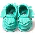Romirus bebé mocasines borla shoes sandalias de la manera ocasional de la pu sandalias de cuero para niños niños chicas chicos-turquesa