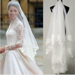 Free shipping hot sale high quality wholesale wedding veils bridal accesories lace bridal veils white ivory.jpg 250x250