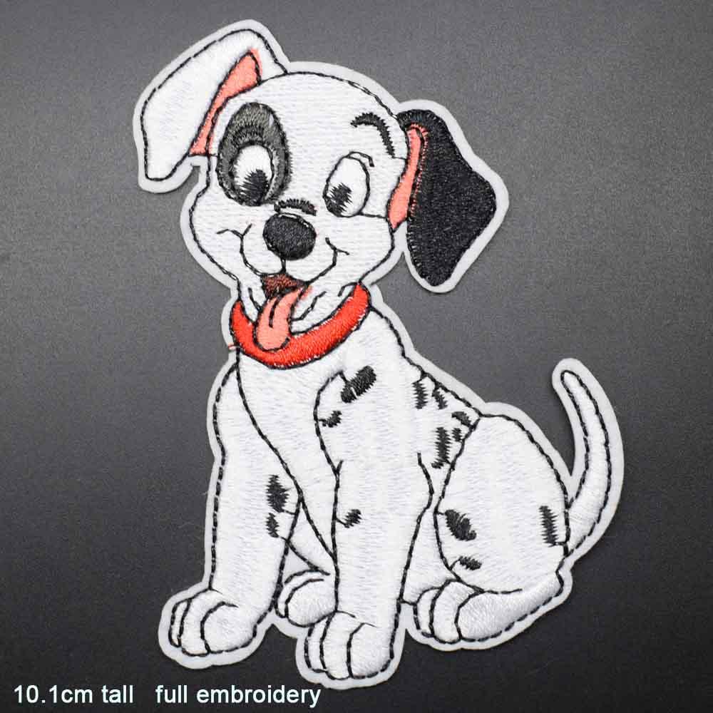 Пятнистая собака полная вышивка Железная на вышитой одежде нашивки для одежды наклейки одежды торговля - Цвет: bandiangou