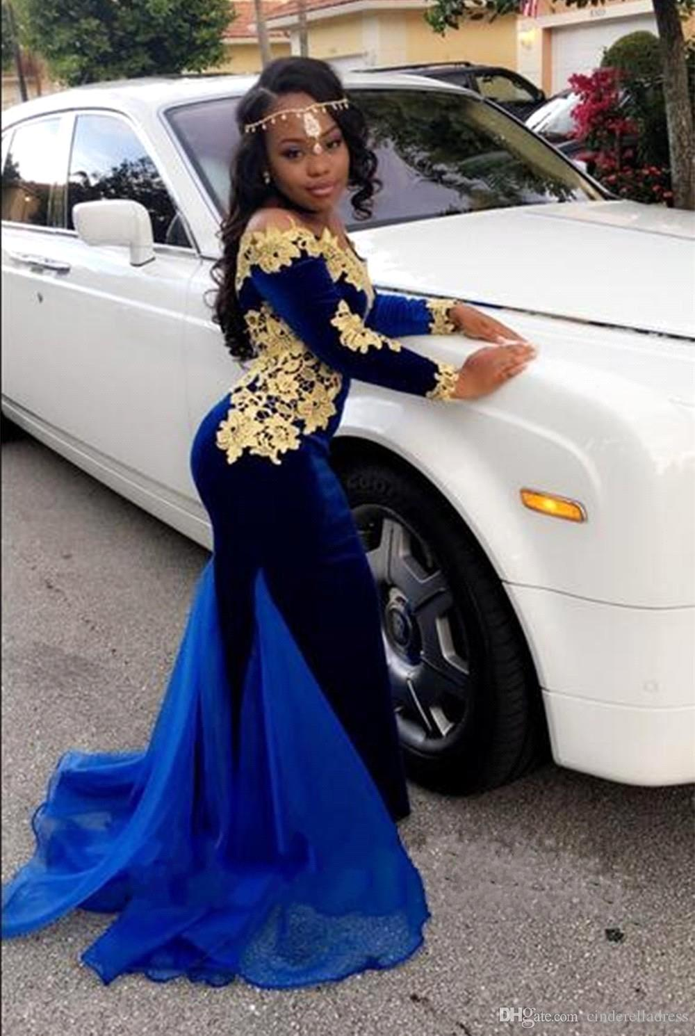 Sexy-Mermaid-Velvet-Prom-Dresses-Royal-Blue-with-Applique-Organza-Designer-Train-Long-Sleeve-Party-Dress (2)