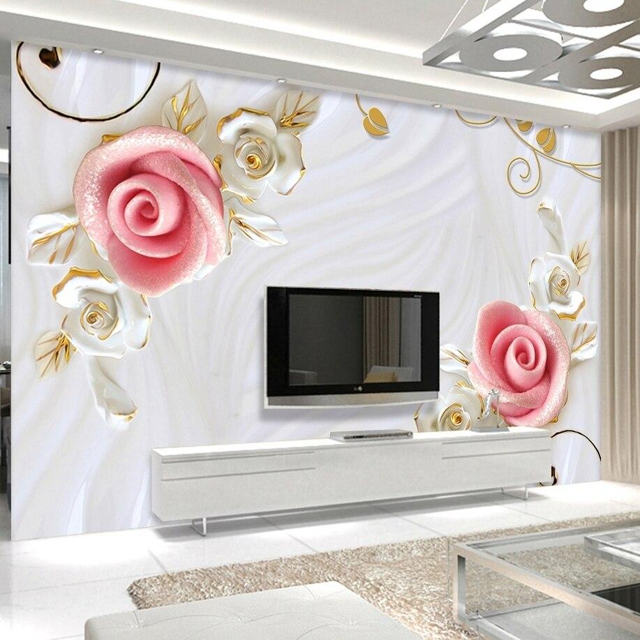 Wall Mural For Living Room Living Flower Wall Mural Promotion Shop For Promotional Living