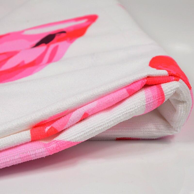 HTB1S.9qSXXXXXbrXpXXq6xXFXXXu - Round Style Microfiber Beach Towel - Flamingo With Tassels Design