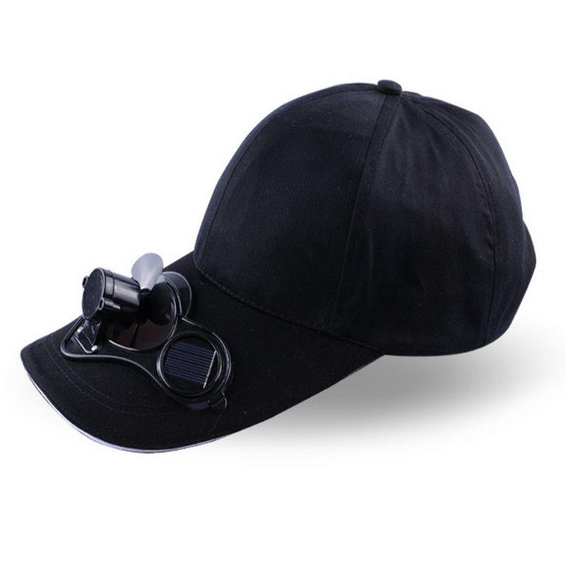 Prix pour Monsieur. Dingues Nouveauté New Hot Hommes Femmes Solaire Puissance Soleil Baseball chapeaux Avec Ventilateur De Refroidissement D'été Garçons Filles Drôle Caps Camping voyager