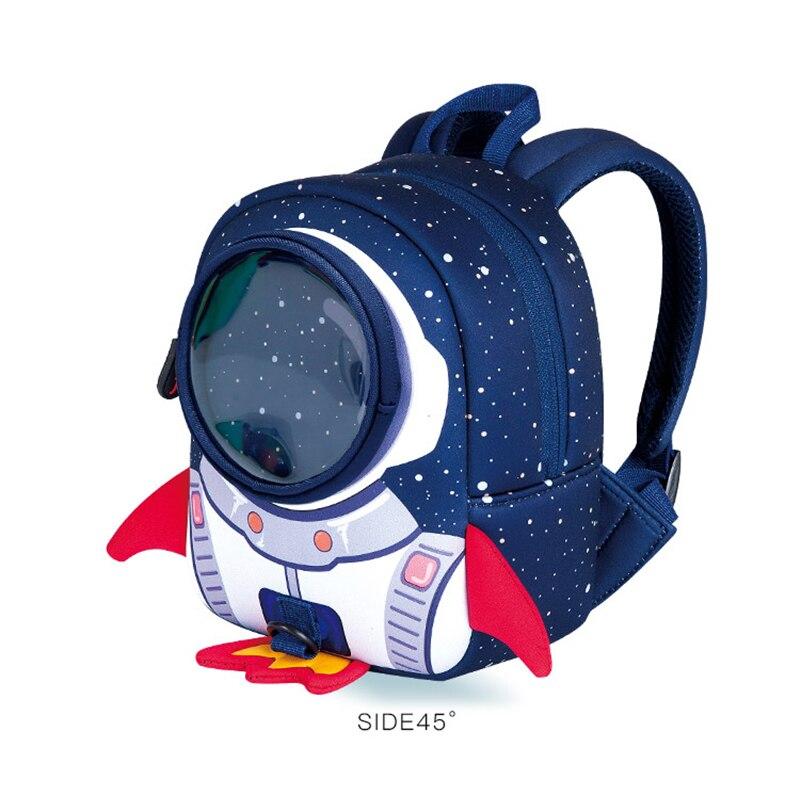 Рюкзак для детей с 3D рисунком ракеты, школьный рюкзак для мальчиков и девочек, неопреновый рюкзак для малышей, рюкзак для детского сада - 2