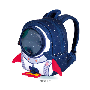 Image 2 - Anti lost 3D Cartoon Rocket Children Backpack Kids Girls Boys School Bags Neoprene Toddler Baby Kindergarten Bag Space Capsule
