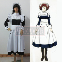 New Handmade Black Butler Mey Rin Maid Dress Cosplay Costume Female's Dress Hot Sale