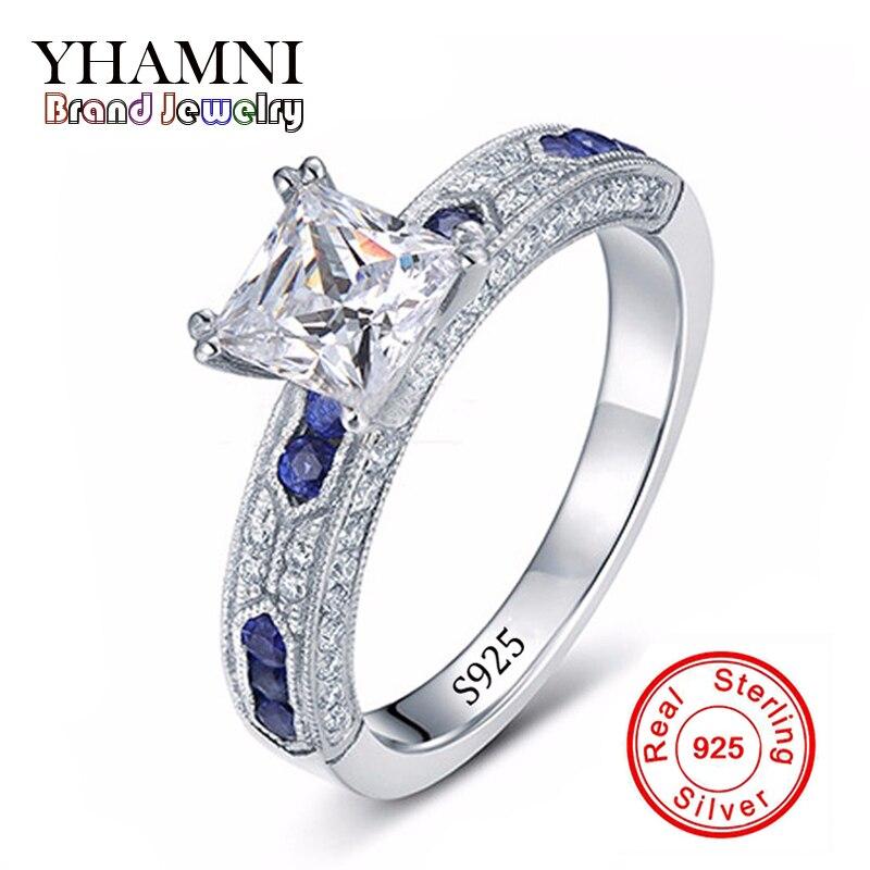 Ont argent certificat d'authenticité 100% solide 925 en argent sterling anneau 1ct sona cz diamant bague de fiançailles pour femmes ar051