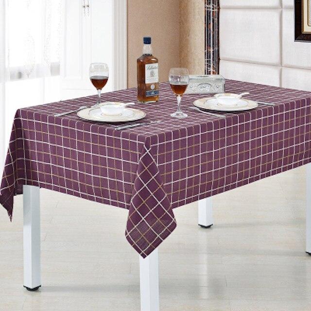 Charmant 90   275cm X 90 X 275cm Plaid Tablecloth Square Rectangular Round Table  Cloth Purple Dia.275 260 240 220 200 180 160 135 X 180